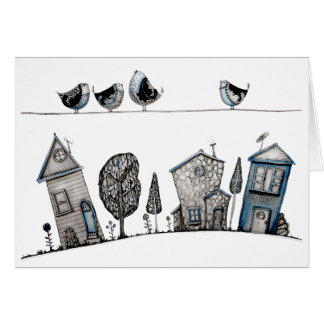 Bird song greeting cards