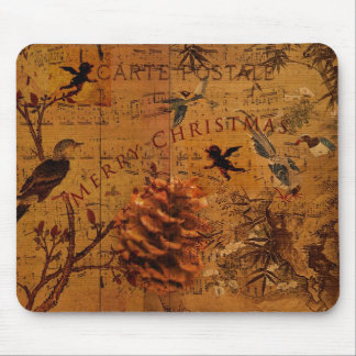 Bird Song Christmas Mouse Pad