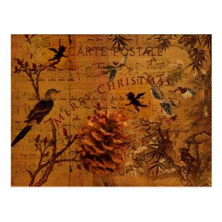 Bird Song Christmas Postcard