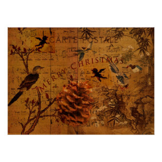 Bird Song Christmas Print