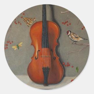 Bird Song Classic Round Sticker