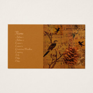Bird Song New Year Business Card