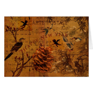 Bird Song New Year Card