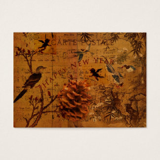 Bird Song New Year Gift Tag