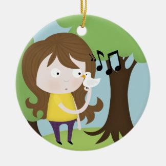 bird song christmas ornament