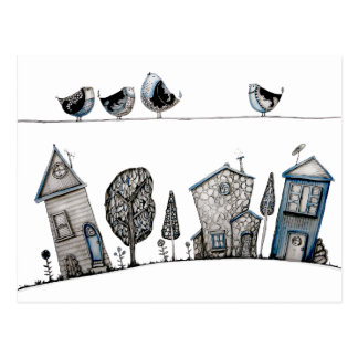 Bird song postcards