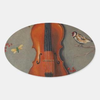 Bird Song Oval Sticker