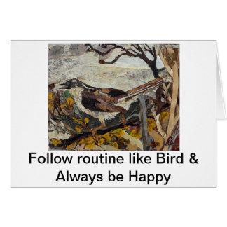 Bird Sparrow Greeting Card