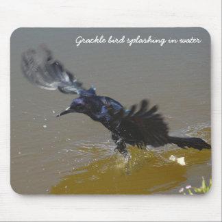 Bird splashing in water Mosepad Mouse Pad