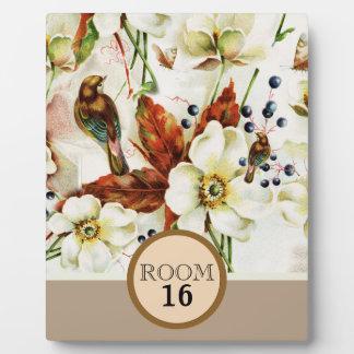 Bird spring blossom country garden plaque