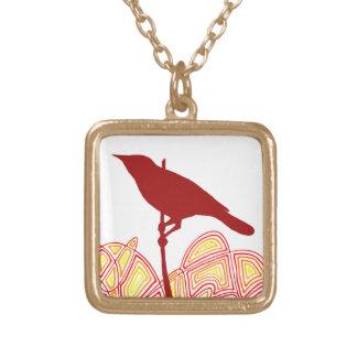 Bird Square Pendant Necklace