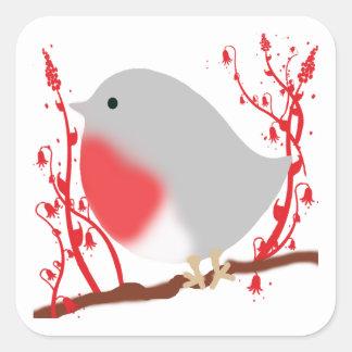 bird square sticker
