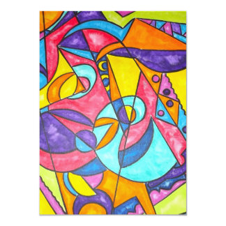 Bird Squawking In The Tree - Abstract Art Card