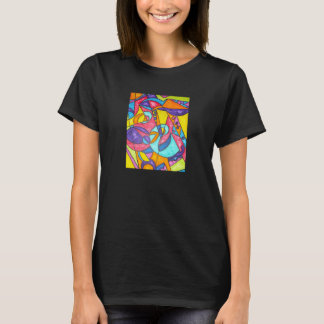 Bird Squawking In The Tree - Abstract Art T-shirt