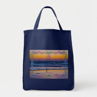 Bird Standing At Waters Edge During Dawn Tote Bag