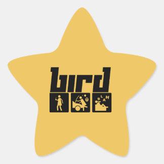 Bird Star Sticker
