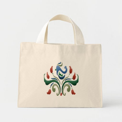 Bird Stencil Tiny Tote Bag