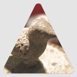Bird Stone Triangle Sticker