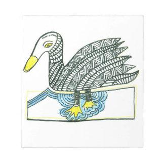 bird swan notepad