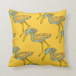 Bird Symbol Egyptian Design Throw Pillow