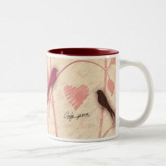 Bird Talk Two-Tone Coffee Mug