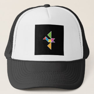 bird tangram flying bird flying trucker hat