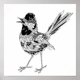 Bird Tattoo 2 Poster