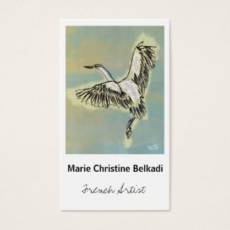 Bird Thank You Note - Artistic Business Card