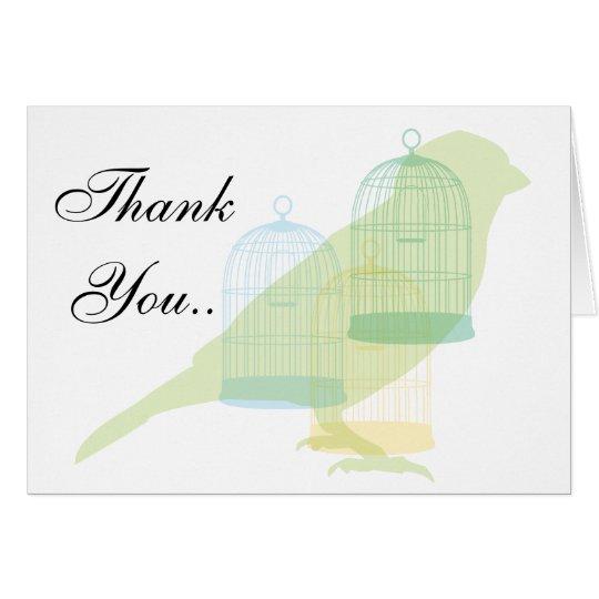 Bird themed thank you card