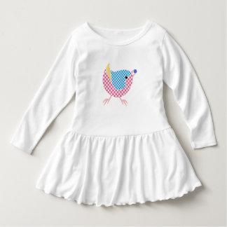 Bird Toddler Ruffle Dress