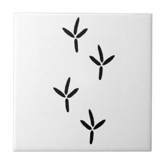 Bird Tracks (egret) Ceramic Tile