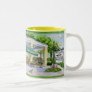 Bird tree and garden club 2008 Two-Tone coffee mug