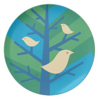 Bird Tree Plates