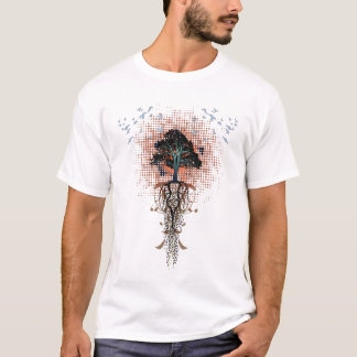 bird-tree-roots-design T-Shirt