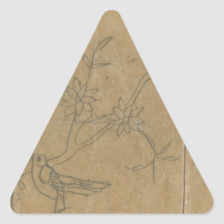 bird triangle sticker