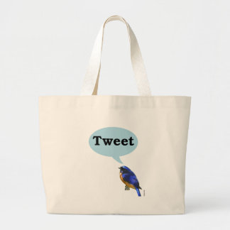 Bird Tweet Canvas Bag
