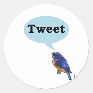 Bird Tweet Round Sticker