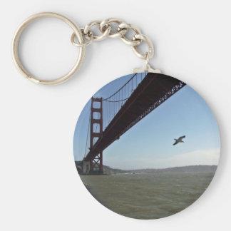 Bird under Golden Gate bridge Key Chains