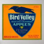 Bird Valley Apple Crate LabelWatsonville, CA Poster