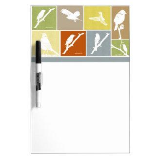 Bird Variety Dry Erase Board