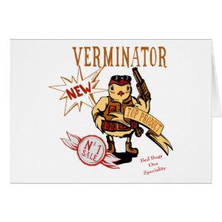 Bird Verminator  ~ Pest Extermination New Gift Stationery Note Card