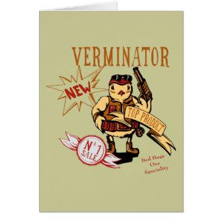 Bird Verminator  ~ Pest Extermination New Gift Greeting Card