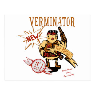Bird Verminator  ~ Pest Extermination New Gift Postcard