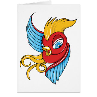 Bird ~ Vintage Forties Tattoo Bird Art Card