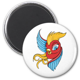 Bird ~ Vintage Forties Tattoo Bird Art Fridge Magnets