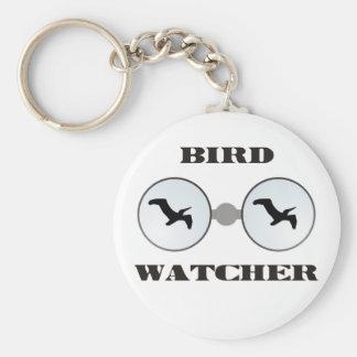 bird wading Cher Basic Round Button Keychain