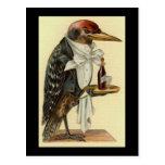 Bird Waiter Post Card