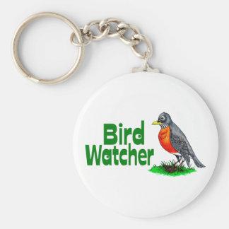 Bird Watcher Basic Round Button Keychain