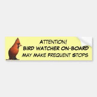 Bird Watcher Bumper Sticker Car Bumper Sticker