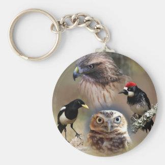 Bird Watcher Collage Keychains